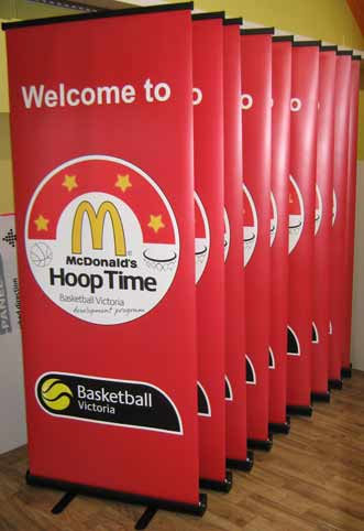 McDonald's Pull Up Banner
