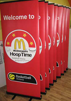 Pull Up Banners for McDonald's