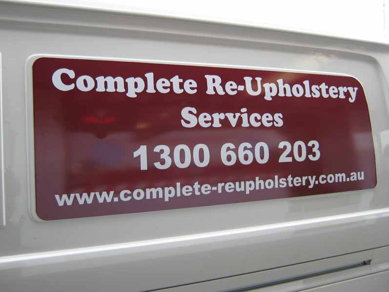 Complete Re-Upholstery Services Vehicle Graphics