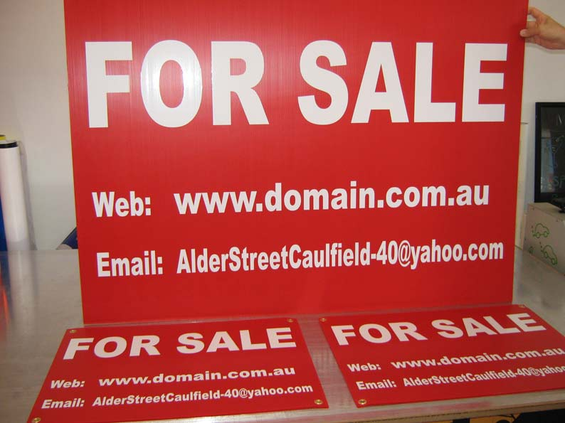 Corflute For Sale Signs