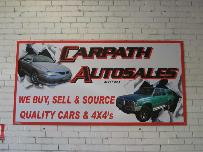 Corflute Sign of Carpath autosales