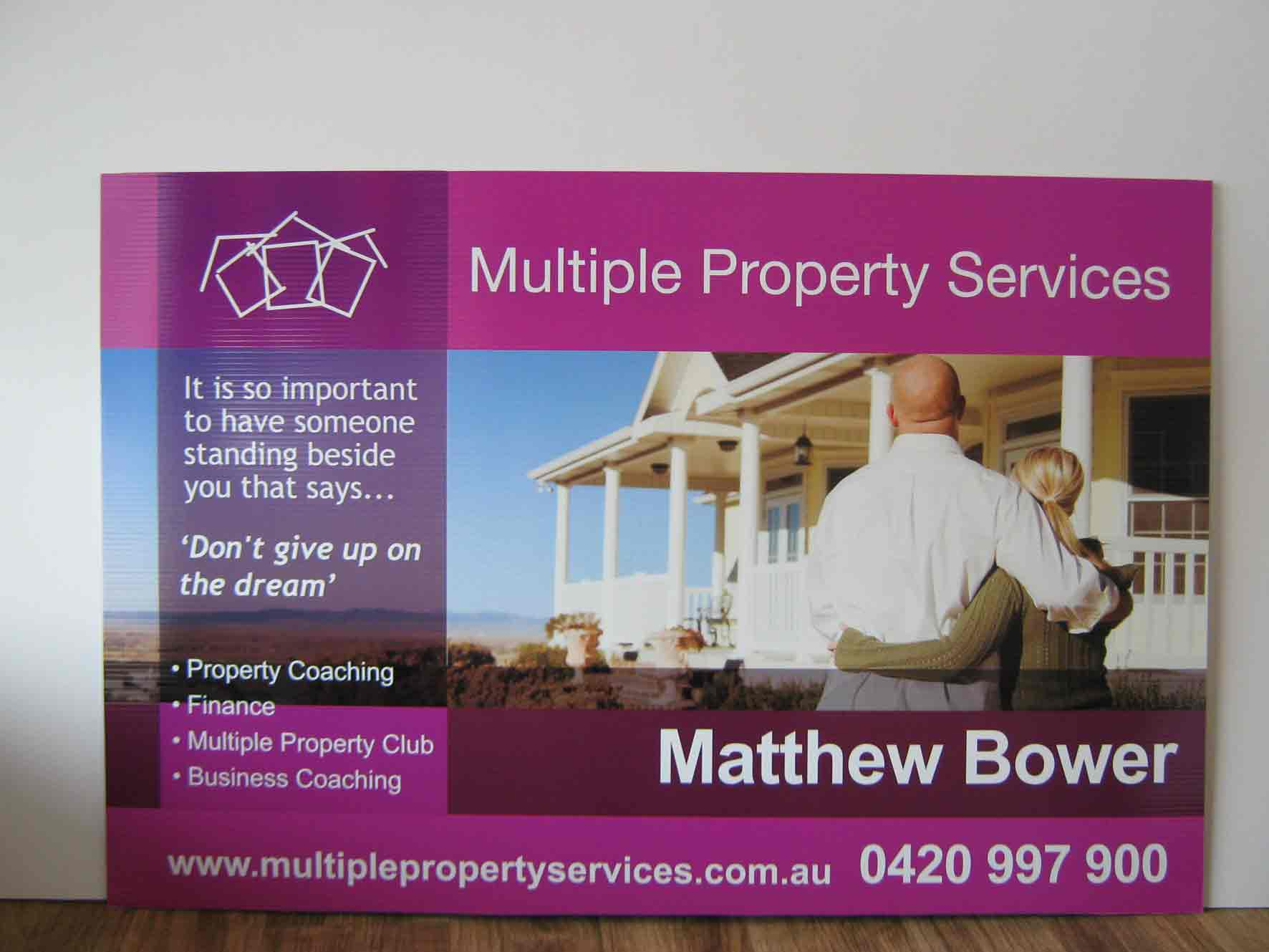 Corflute Signs for Multiple Property Services
