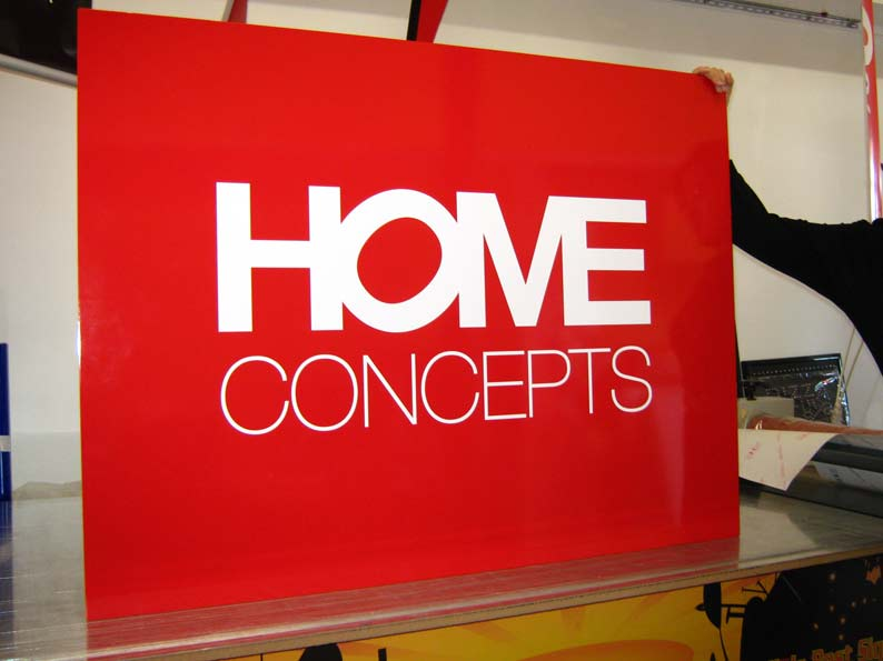 Corflute Signs of home concepts