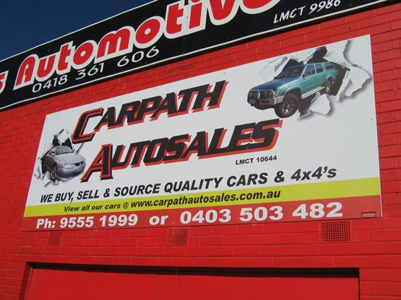 Custom Corflute Sign Carpath Autosales