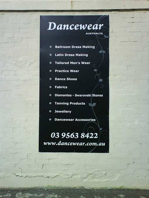 Dancewear Custom Sign
