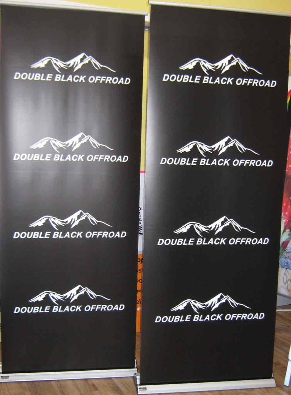 Double Black Offroad Pull up Banners