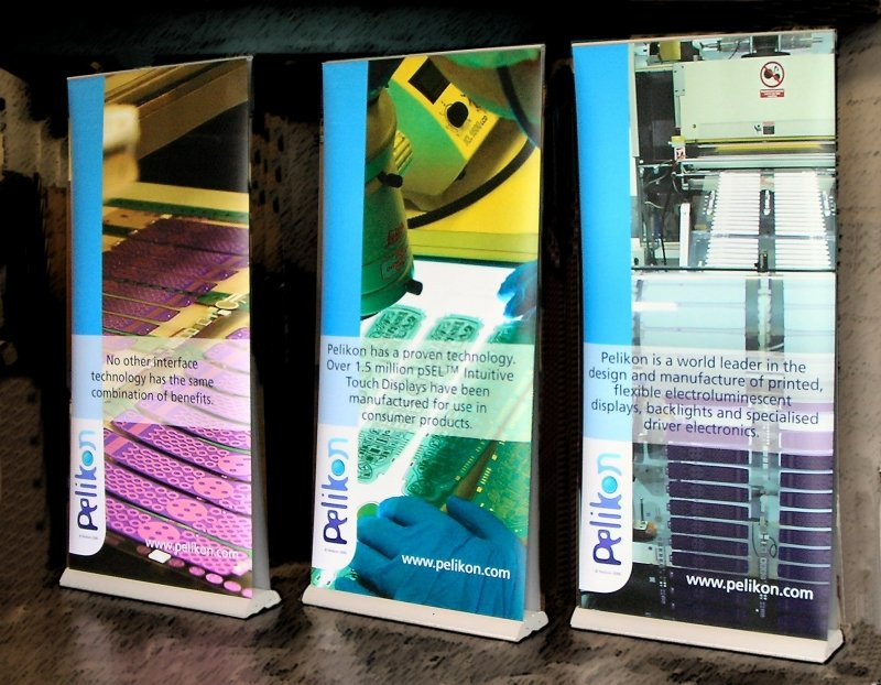 Double Sided Pull Up Banners of Pelikon