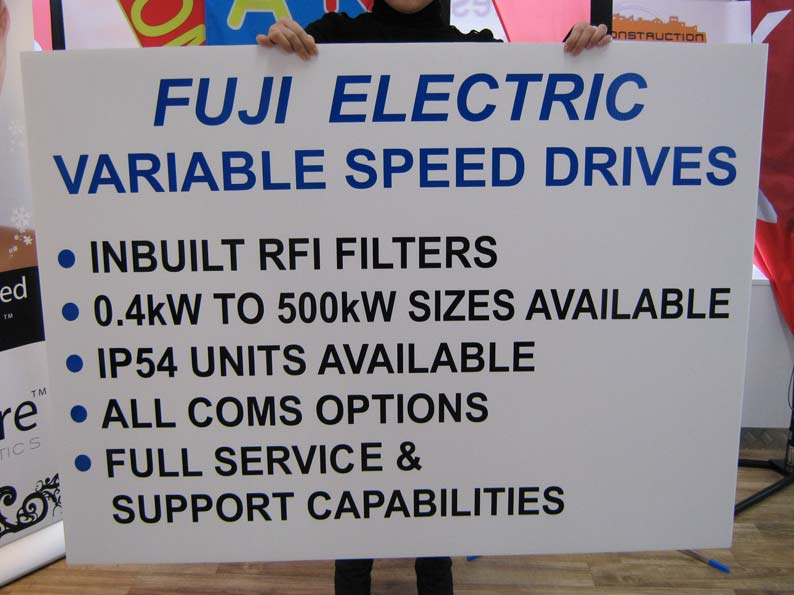 Fuji Electric Corflute Signs