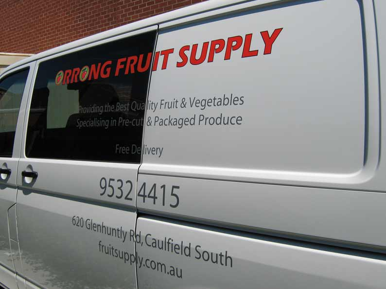 Orrong Fruit Supply Vehicle Graphics