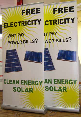 Clean Energy Solar Pull Up Banners