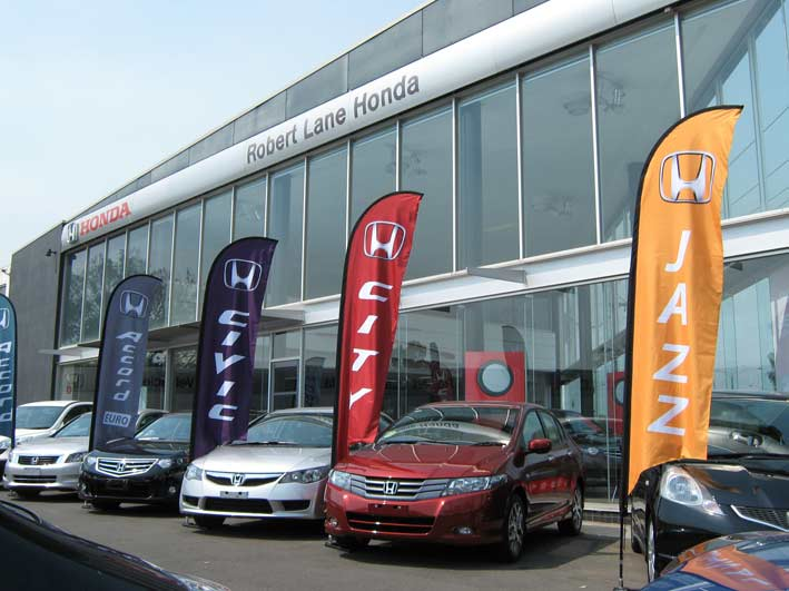 Robert Lane Honda Feather Banners