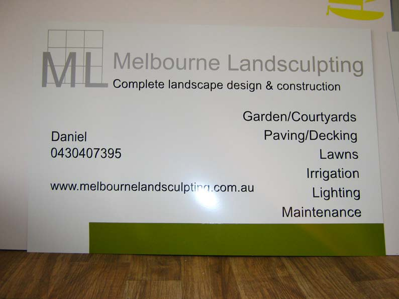 Sign for Melbourne Landsculpting