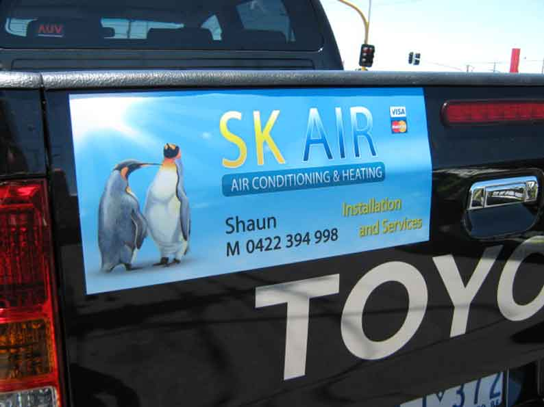 SK Air Pvt Lts Vehicle Graphics for