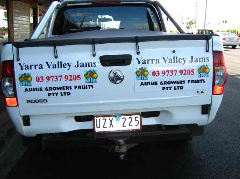 Vehicle Graphics of Aussie Growers Fruits