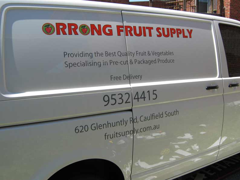 Vehicle Graphics of Orrong Fruit Supply