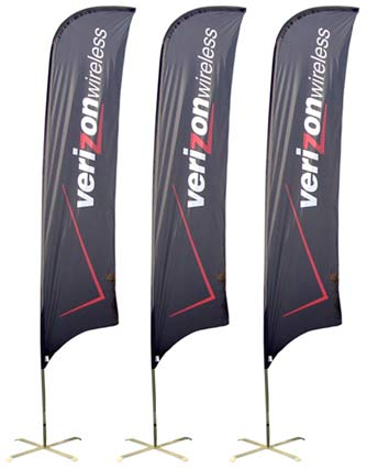Verizon Wireless Feather Flag